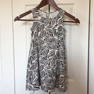Toddler 4t summer dress. Grey and white.